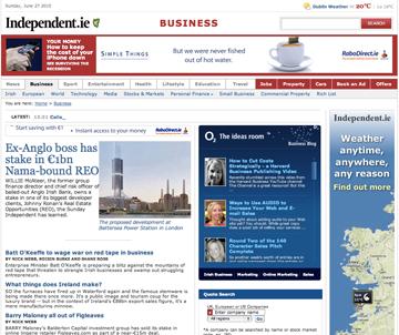 Independent.ie website